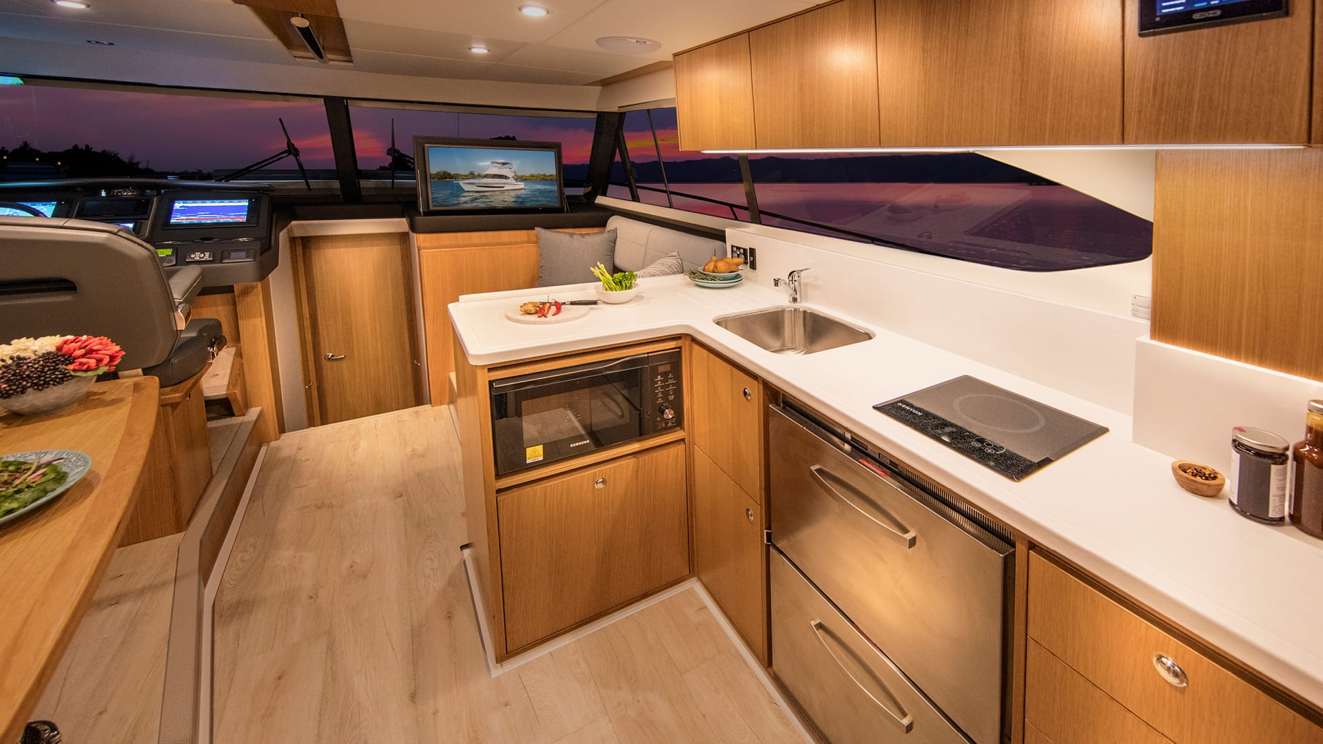 Riviera 39 Sports Motor Yacht Galley