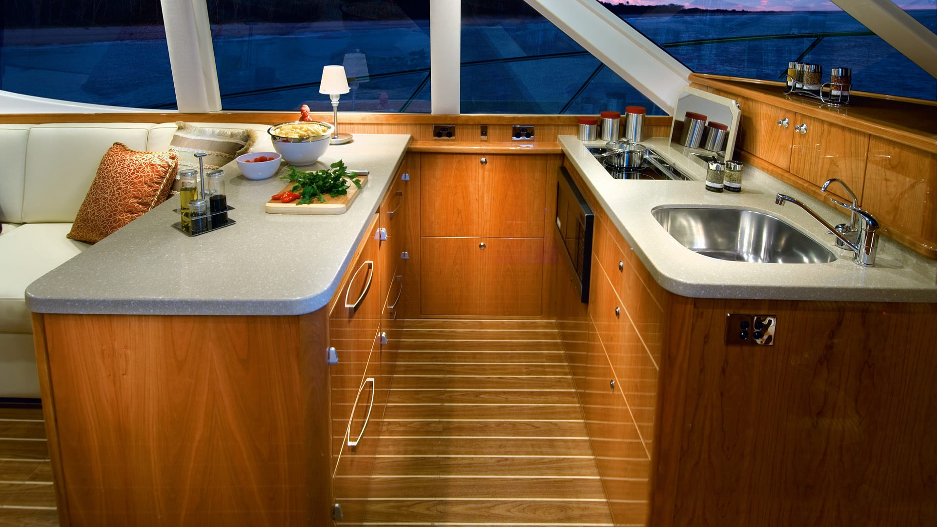 Riviera 45 Open Flybridge Galley