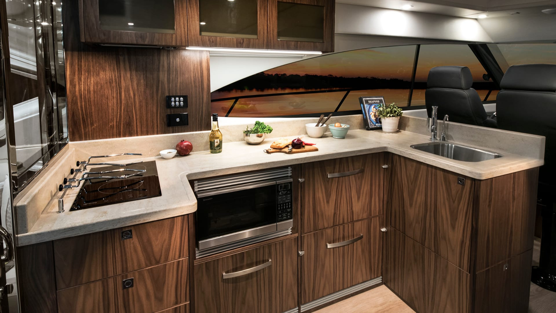 Riviera 4800 Sport Yacht Galley
