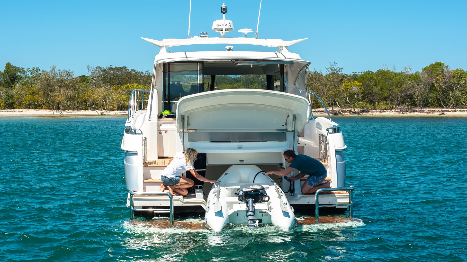 Riviera 4800 Sport Yacht Tender Garage