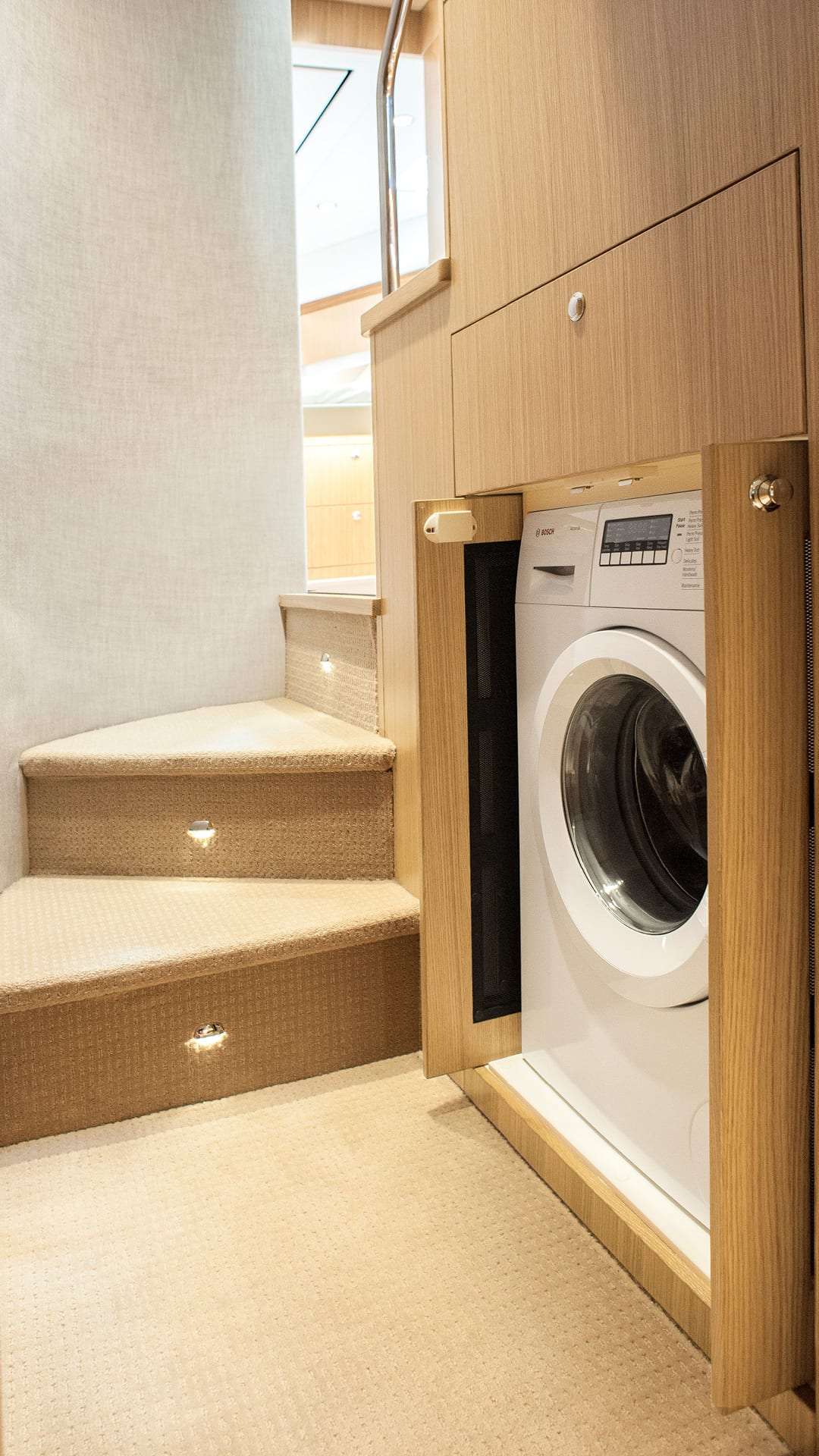 Riviera 575 SUV Laundry 02 – Satin Oak Timber Finish