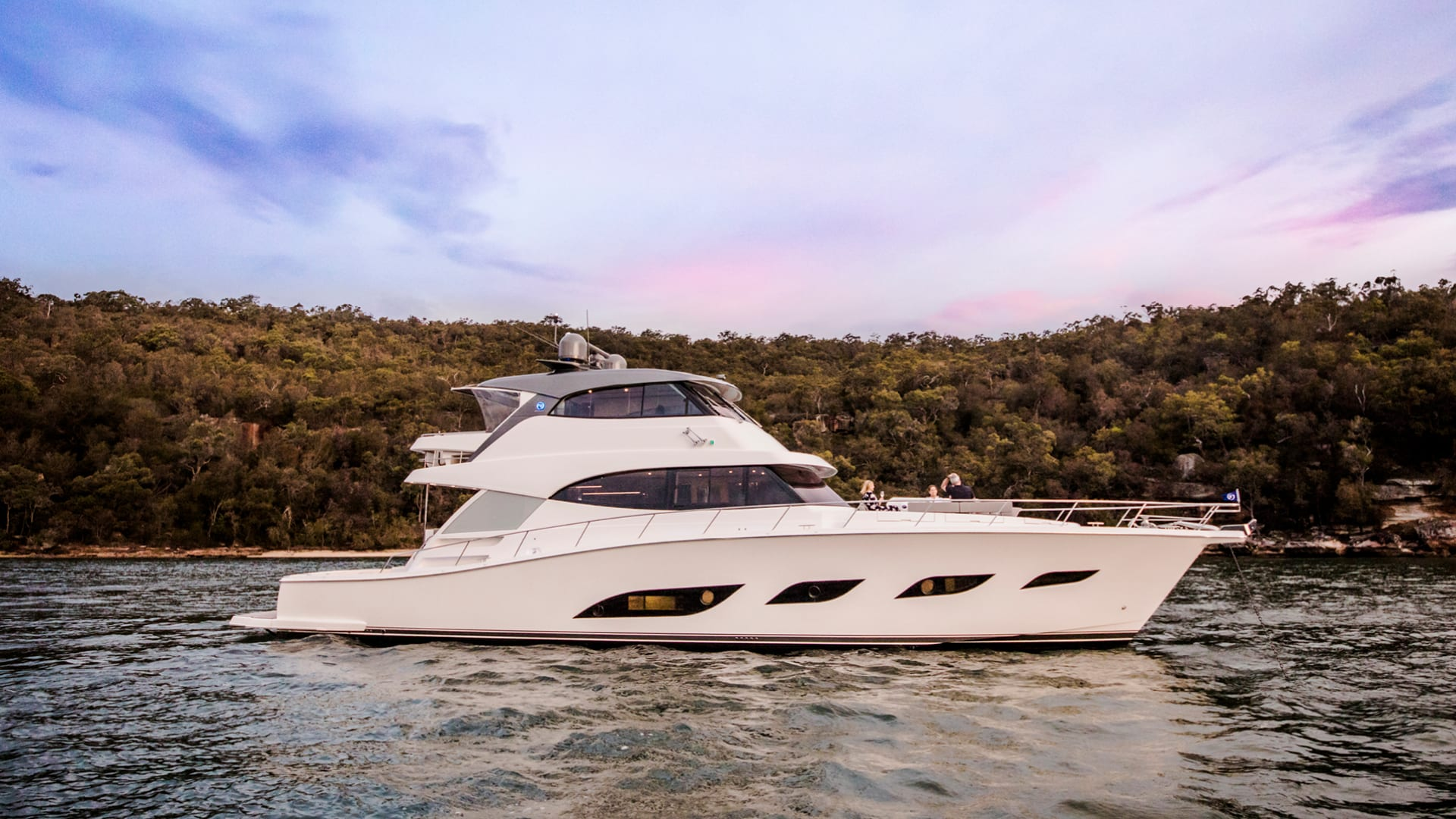 Riviera 68 Sports Motor Yacht Anchored 01