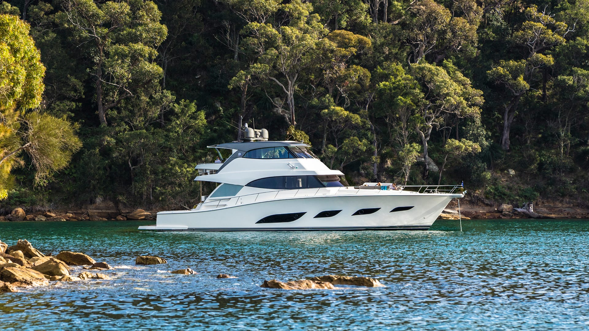 Riviera 68 Sports Motor Yacht Anchored 03
