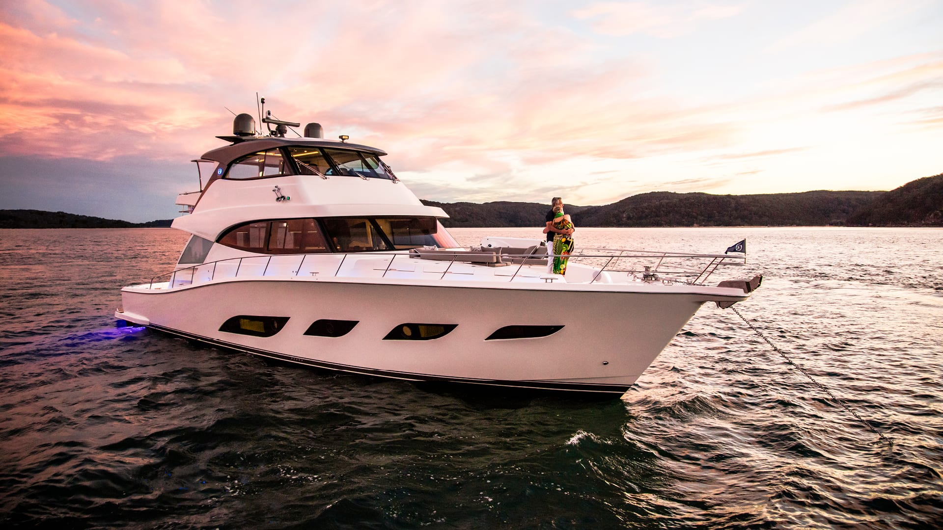 Riviera 68 Sports Motor Yacht Anchored 04