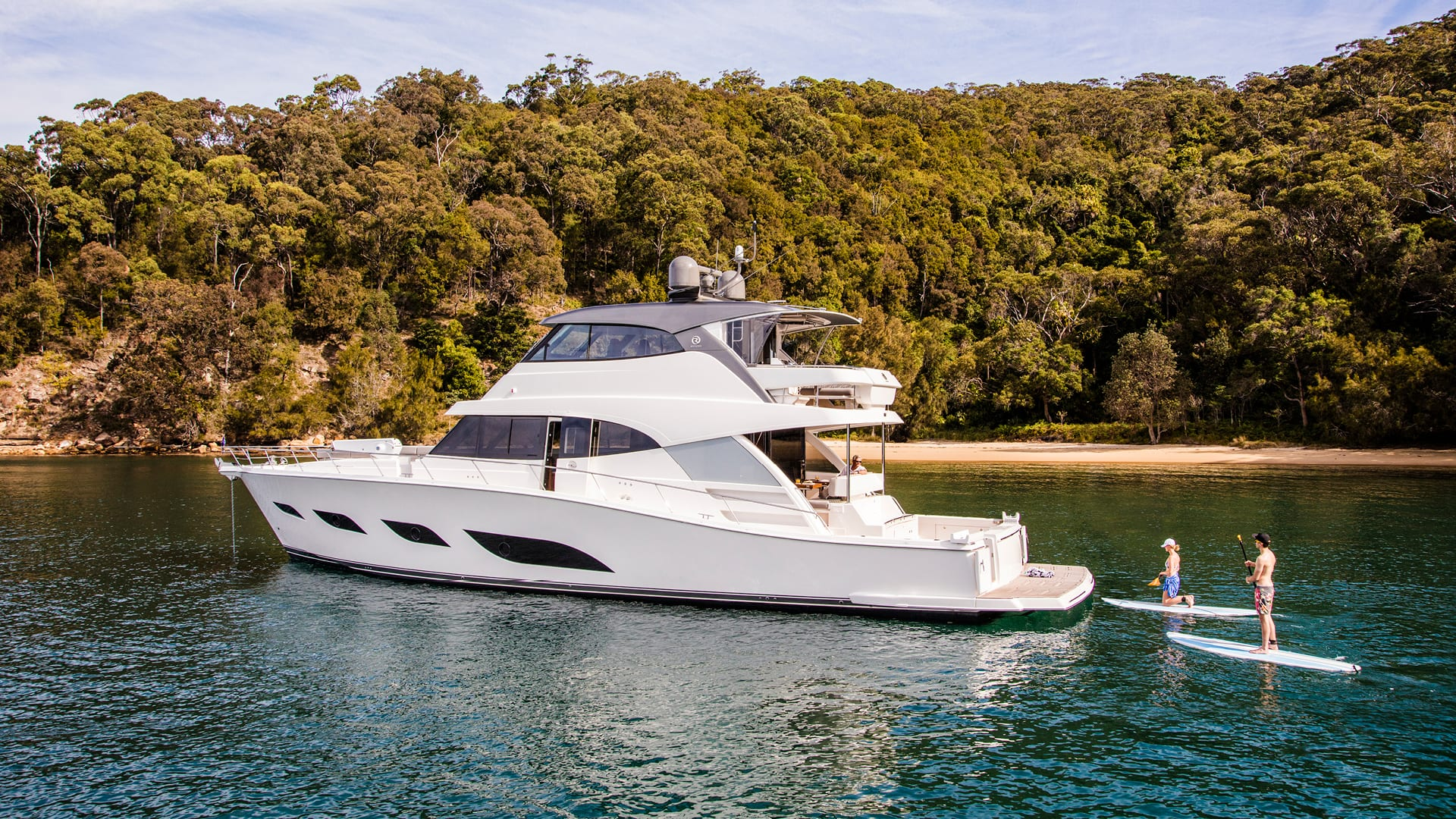 Riviera 68 Sports Motor Yacht Anchored 07