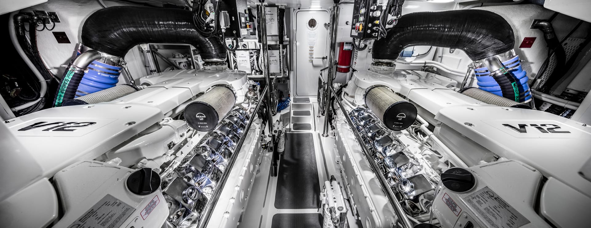 Riviera 68 Sports Motor Yacht Engine room