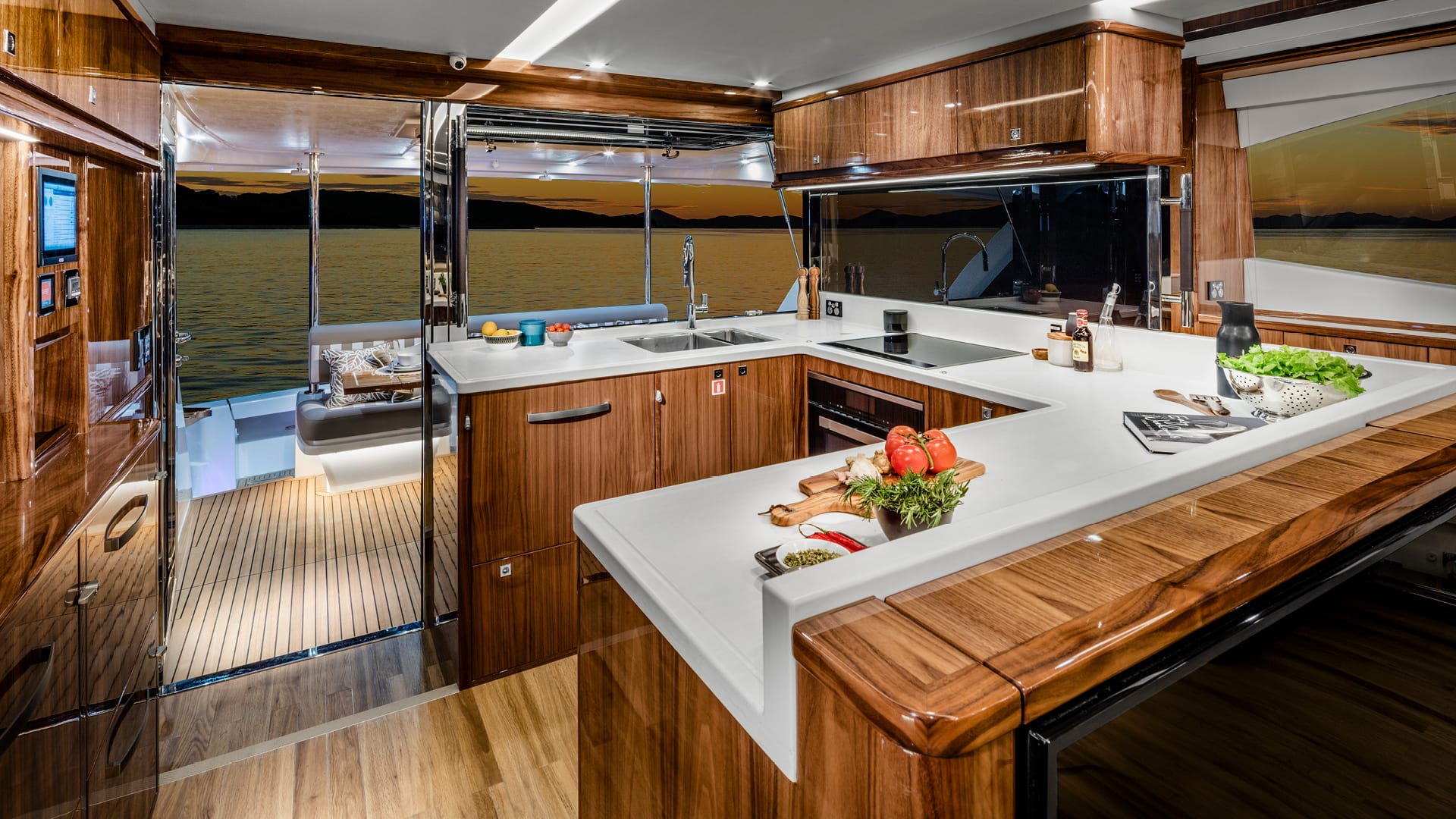 Riviera 68 Sports Motor Yacht Galley