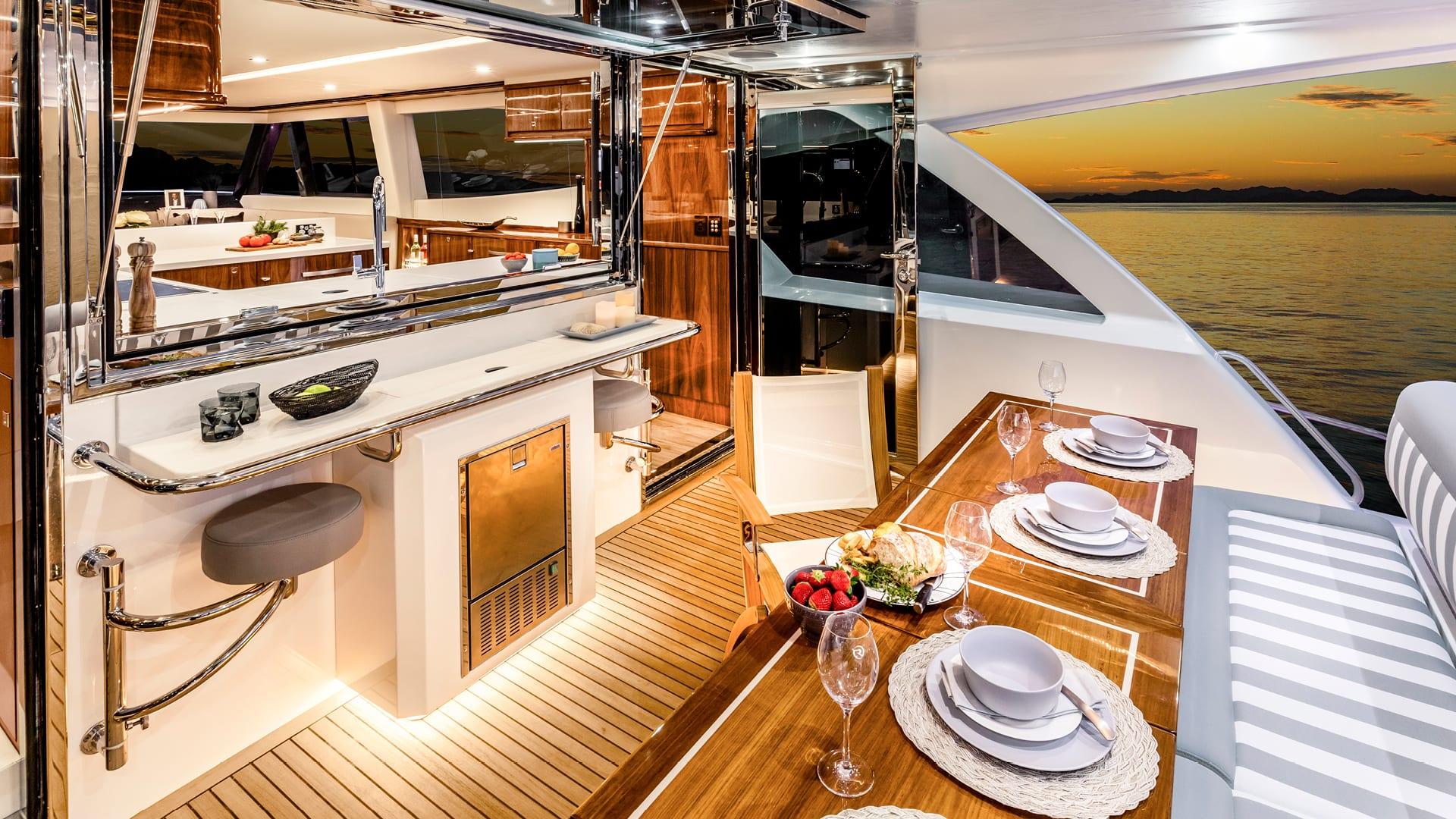 Riviera 68 Sports Motor Yacht Mezzanine 01