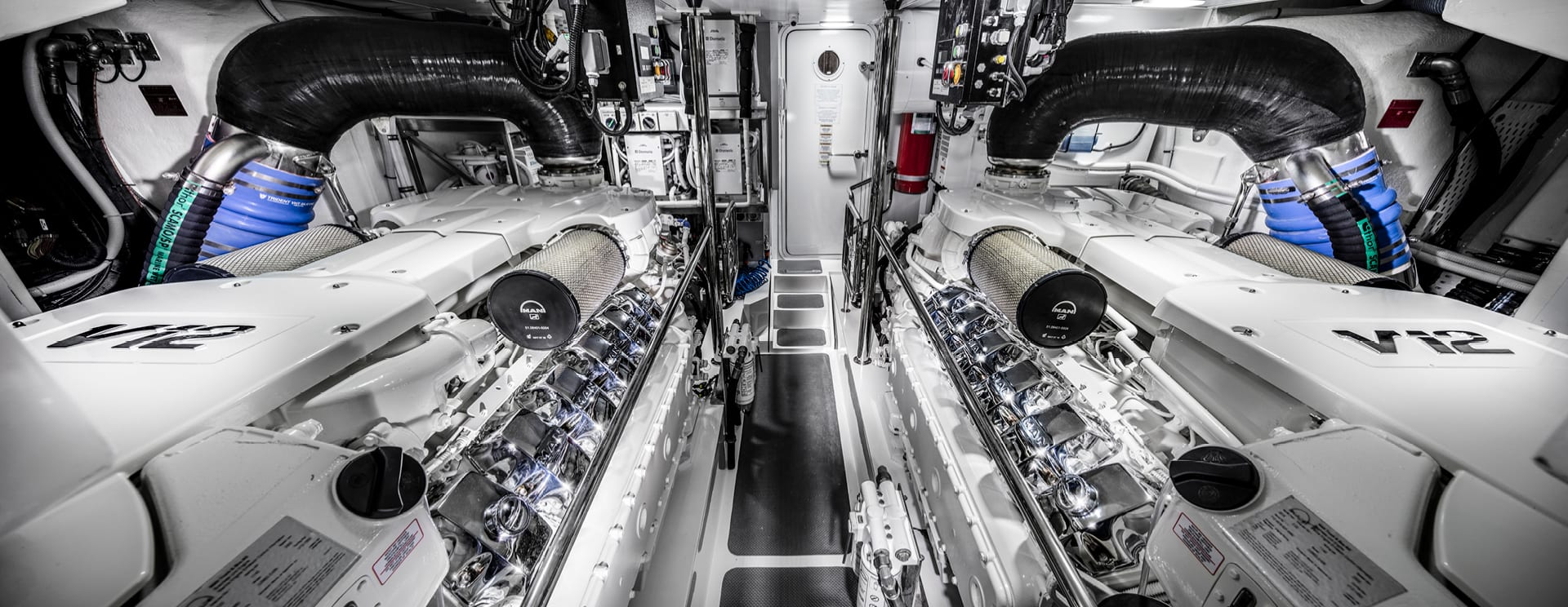 Riviera 72 Sports Motor Yacht Engine room