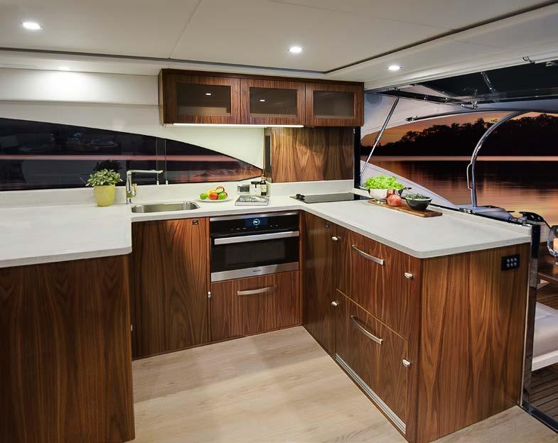 Riviera Corporate Website 5400 Sport Yacht Model Dining Area