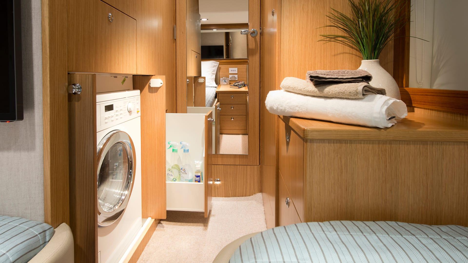 Riviera 52 Enclosed Flybridge Laundry