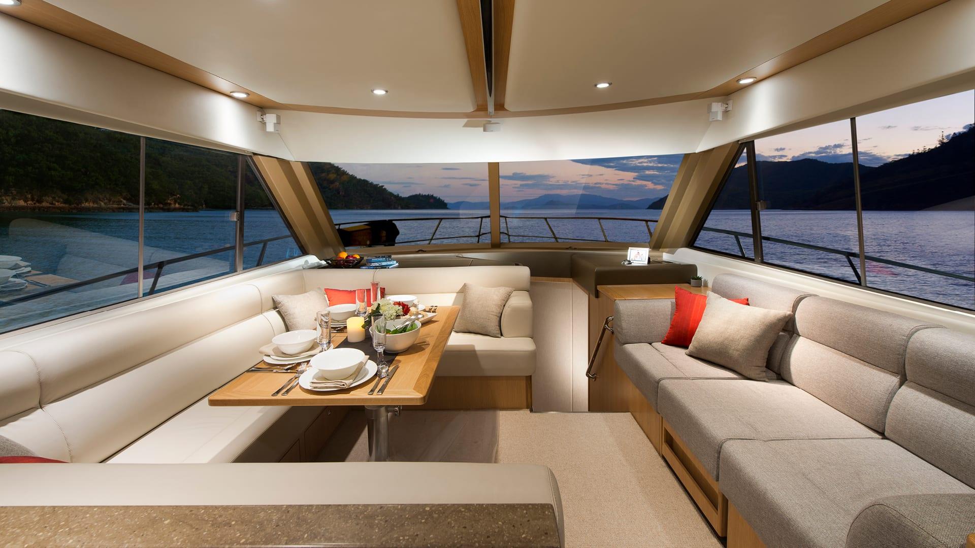 Riviera 52 Enclosed Flybridge Saloon 02
