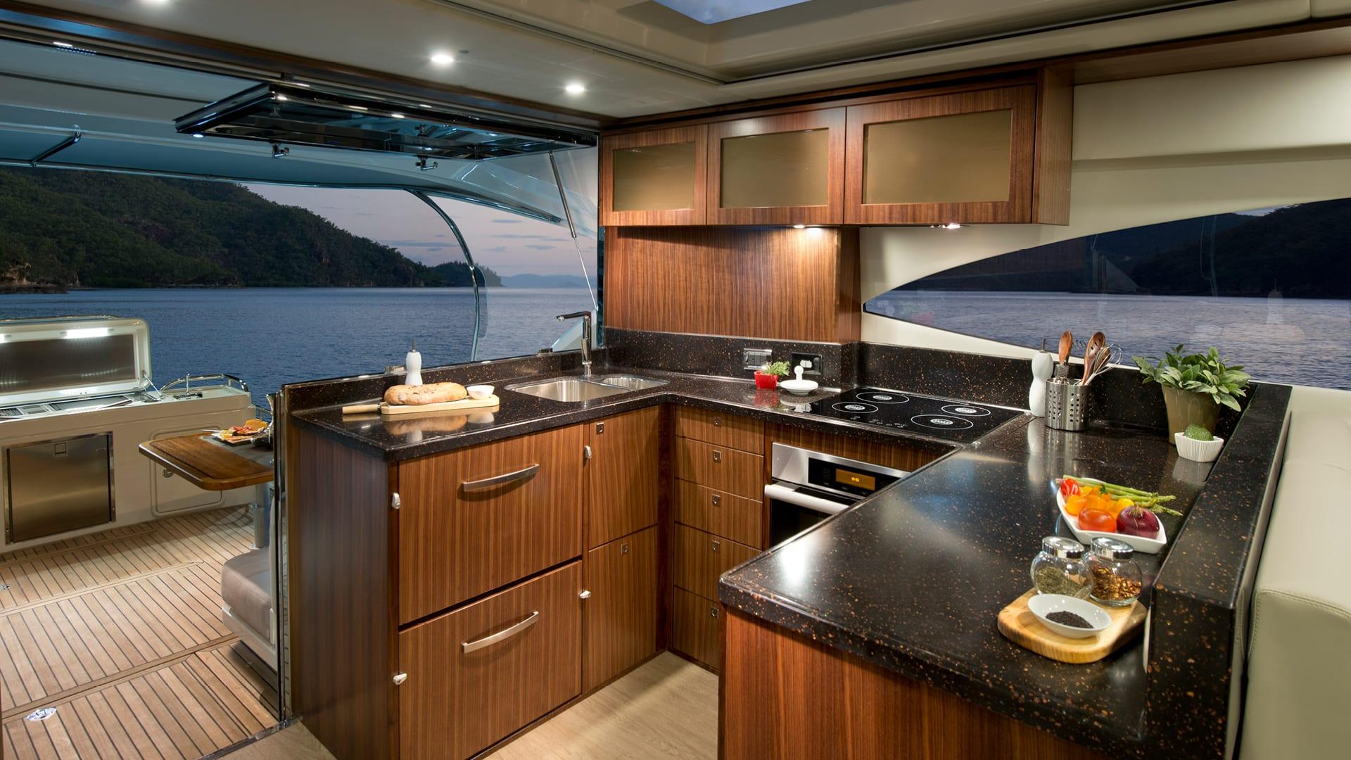 Riviera 6000 Sport Yacht Galley
