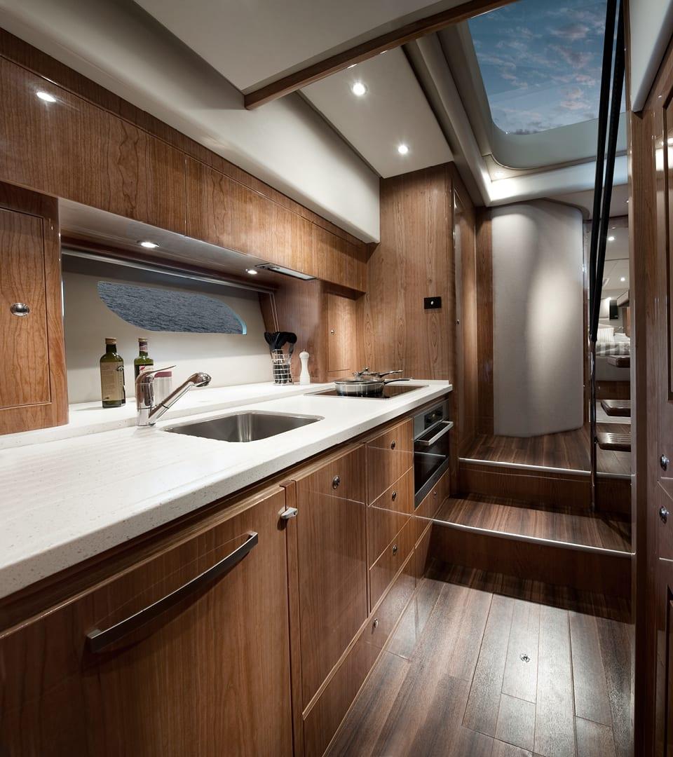 Riviera 6000 Sport Yacht Optional Lower Galley