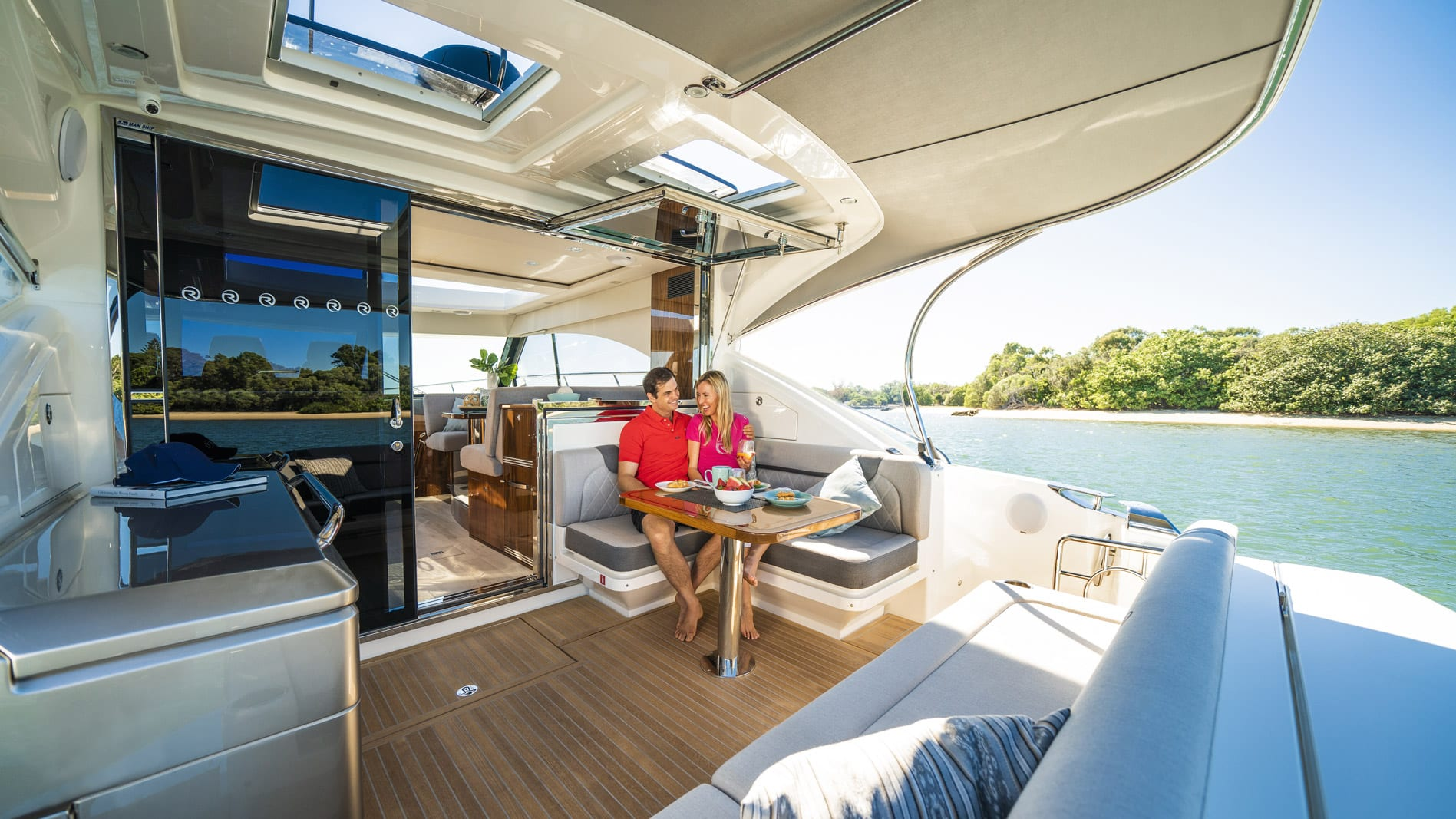 Write your own escape this Winter aboard your new Riviera 52 Flybridge