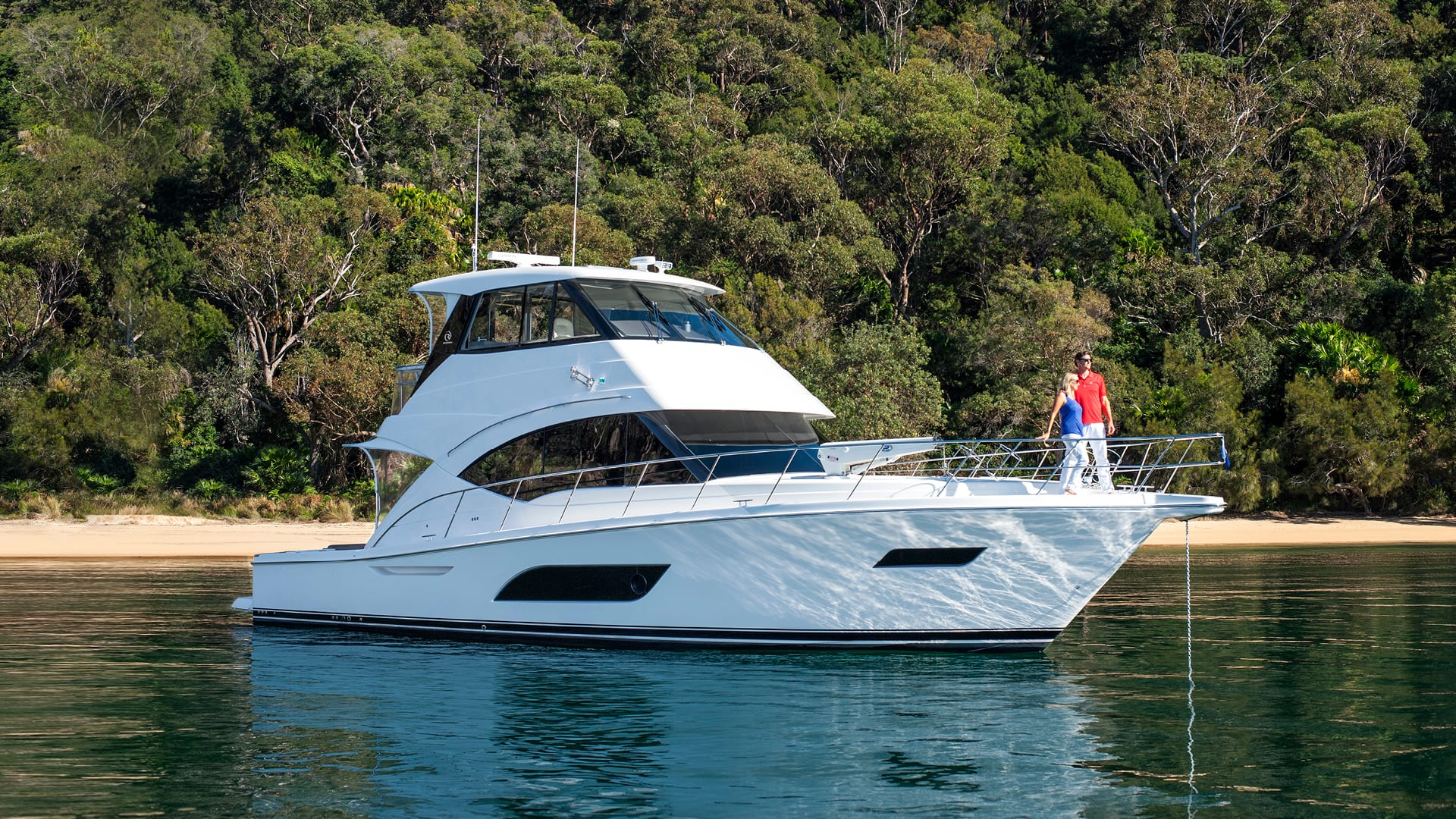 Riviera 57 Enclosed Flybridge Anchored 01