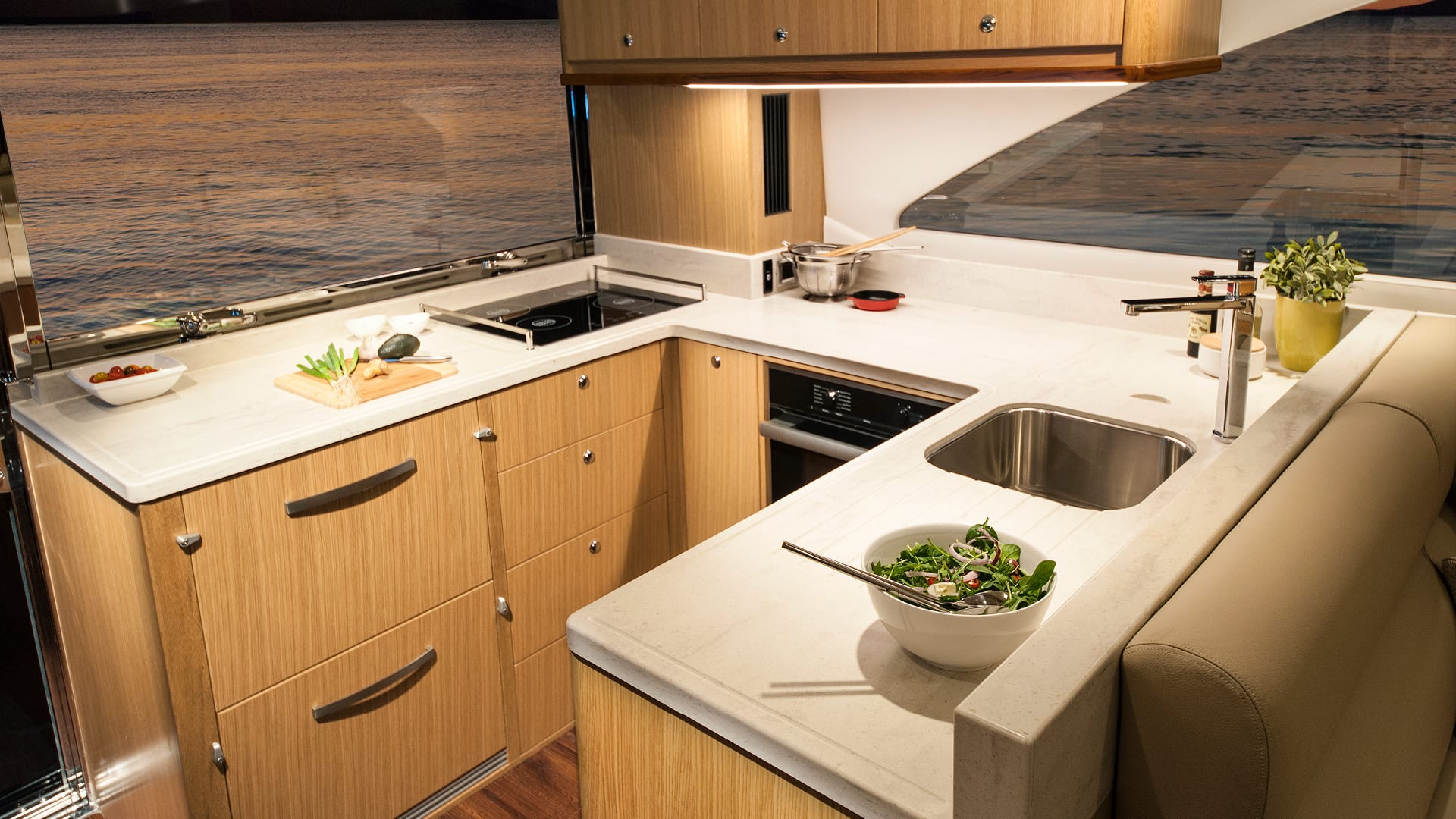 Riviera 57 Enclosed Flybridge Galley
