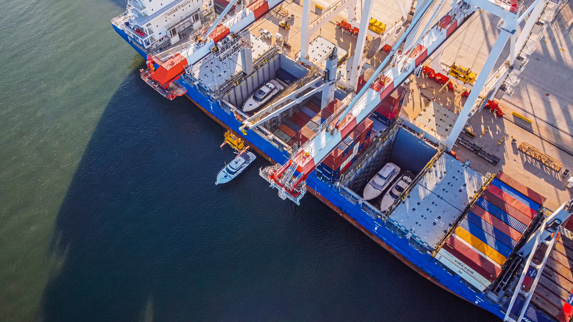 Riviera Australia Ship Loading aerial